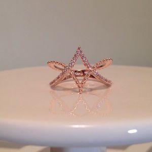 Jewelry - Eternity diamond encrusted- rose gold dipped sz 8